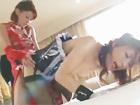 【レズ動画】捕われたメイド姿のドM美女を優しくいやらしく言葉責めしながらペニバンで犯してイカせまくる赤いチャイナドレスのセクシー女王様 erovideo女性専用無料エロ動画