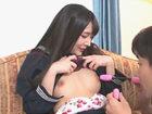 跡美しゅり パッチリ二重の制服美少女JKがマッチングアプリで出会った男性と玩具を使って交わる中出しセックス JavyNow 女性のための無料アダルト動画